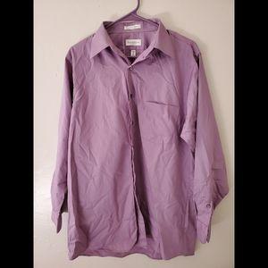 Van Heusen Lux sateen wrinkle free shirt
